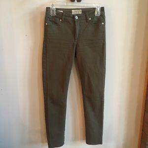 Lucky Brand Hayden Green Skinny Jeans Size 25